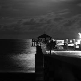 Laura Fasulo - Moonlit Pier Black And White