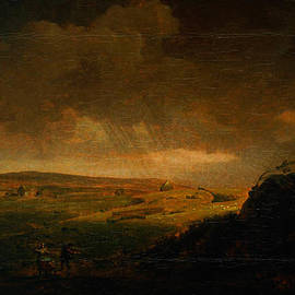 Moorland Landscape With Rainstorm by Celestial Images