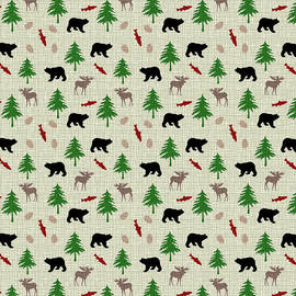 Moose and Bear Pattern by Christina Rollo