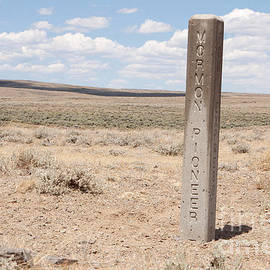 Mormon Pioneer Trail Marker In Wyoming by Cindy Singleton