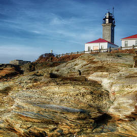 Joan Carroll - Morning at Beavertail Lighthouse