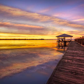 Morning Dock by Debra and Dave Vanderlaan