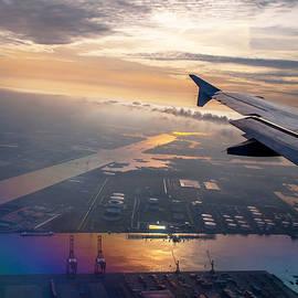 Morning Flight over Netherlands 1 by Jenny Rainbow