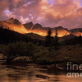 Morning Light Maligne Pass by Bob Christopher