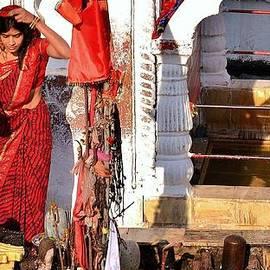 Kim Bemis - Morning Offerings - Narmada River Source - Amarkantak India