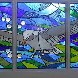 Mosaic Stained Glass - Free as a Bird by Catherine Van Der Woerd