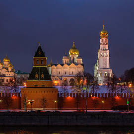 Alexander Senin - Moscow Kremlin Cathedrals At Night - Featured 3