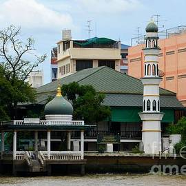 Mosque on Chao Phraya river bank Bangkok Thailand by Imran Ahmed