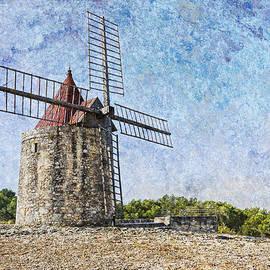 Moulin De Daudet Fontvieille France On a Texture Dsc01833 by Greg Kluempers