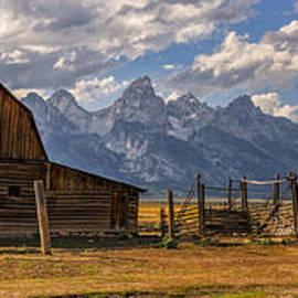 Moulton Barn Panorama - Grand Teton National Park Wyoming by Brian Harig
