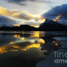 Mount Rundle Banff Canada 5 by Bob Christopher