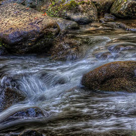 Mountain Stream On the Rocks by Harry B Brown