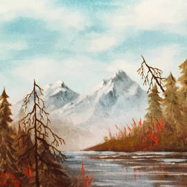 Mountains and Shoreline by Teresa Ascone
