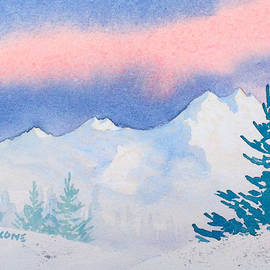 Mountains with Sunset Sky by Teresa Ascone