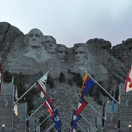 Mt. Rushmore In The Evening by Frank Madia