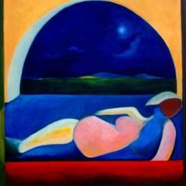 Mujer Mirando La Luna by Victoria Sheridan
