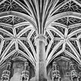 Bob and Nancy Kendrick - Musee de Cluny Chapel Vault - Black and White