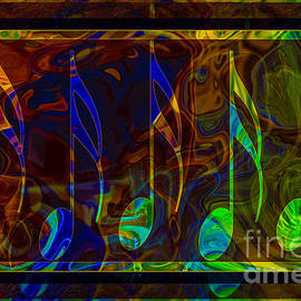 Music Is Magical Abstract Healing Art by Omaste Witkowski