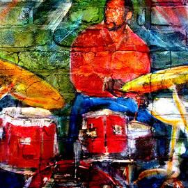 Musician Drummer And Brick by Anita Burgermeister