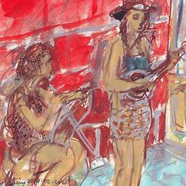 Musicians Busking  by Edward Ching