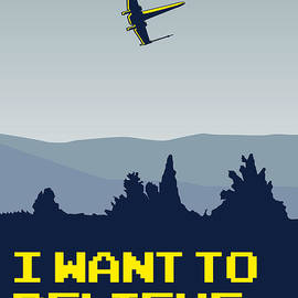 Chungkong Art - My I want to believe minimal poster- xwing