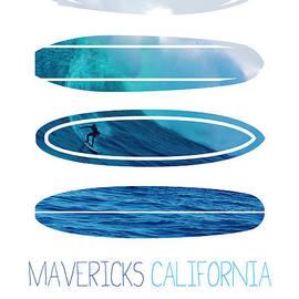 My Surfspots poster-2-Mavericks-California by Chungkong Art
