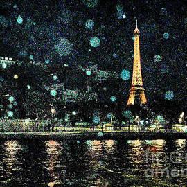My Van Gogh Eiffel Tower by Jennie Breeze