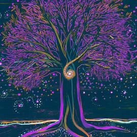 First Star Art - Mystic Spiral Tree 1 purple