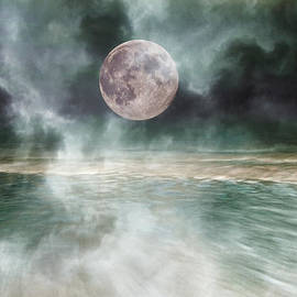 Mystical Beach Moon by Betsy Knapp