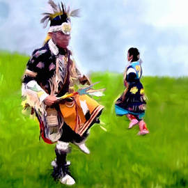 Bob and Nadine Johnston - Native American Dancers at Heber