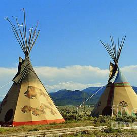 Native American Teepees  by Dora Sofia Caputo
