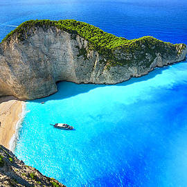 Navagio Beach Shipwreck Beach by Rusm