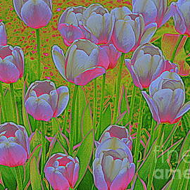 Dora Sofia Caputo Photographic Art and Design - Neon Tulips Pop Art