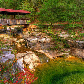 Covered Bridge in Spring - Ponca Arkansas by Gregory Ballos