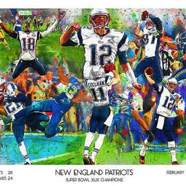 New England Patriots Champions 2015 by John Farr