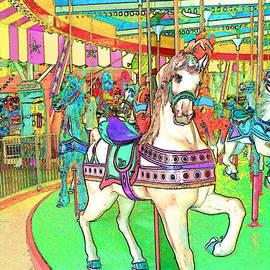 New Jersey Boardwalk Carousel by Barbara McDevitt