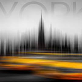 New York City Cabs Abstract by Az Jackson