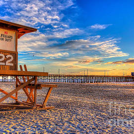 Newport Beach Pier - Wintertime  by Jim Carrell
