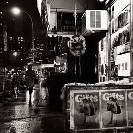 News Stand at Night by Miriam Danar