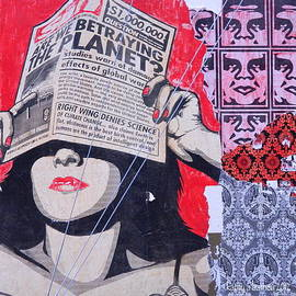 Shepard Fairey Graffiti Andre the Giant And His Posse Wall Mural by Kathy Barney