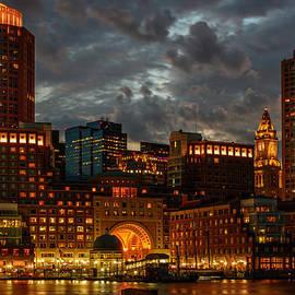 Night at Boston Harbor by Ludmila Nayvelt