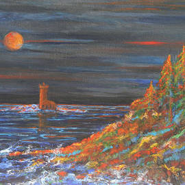 Night At Mohawk Lighthouse   by Kathy Peltomaa Lewis
