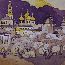 Khromykh Natalia - night over Posad