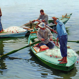 Nile River Fishermen  by Ahmed Bayomi