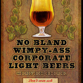 No Bland Beer Served Here Poster