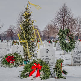 Yellow Ribbon Tree Cemetery by Patti Deters