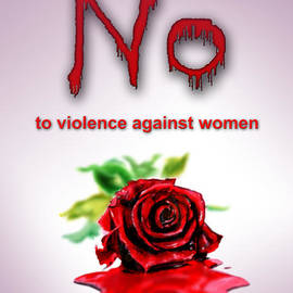 No to violence against women by Amani Al Hajeri