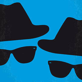 No012 My blues brother minimal movie poster by Chungkong Art