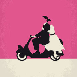 No205 My Roman Holiday Minimal Movie Poster by Chungkong Art