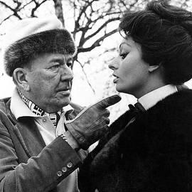 Noel Coward And Sophia Loren by Underwood Archives
